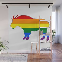 Rainbow Mountain Goat Wall Mural