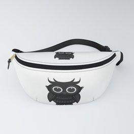 Black Owl Fanny Pack
