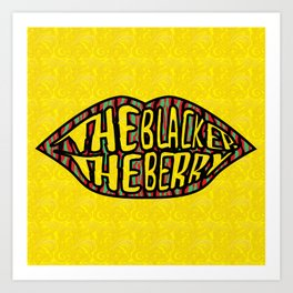 The Blacker the Berry Tribe called quest Art Print
