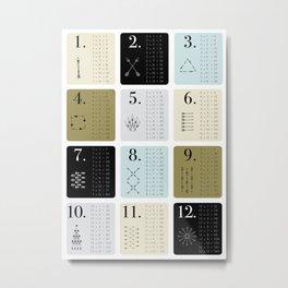 TIMES TABLE - KHAKI Metal Print