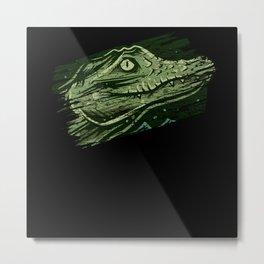 Crocodile animals Metal Print