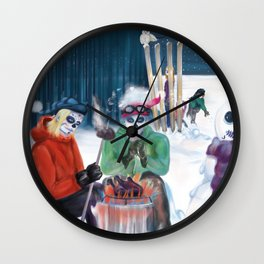 Day of the Deadly Snow: Snowball Wall Clock
