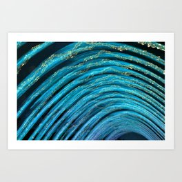 water arcs Art Print