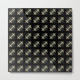 Fleur de lis ...gold, black, white Metal Print