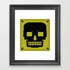 grrr skull. Framed Art Print