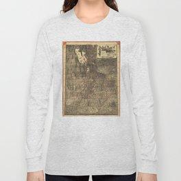 Relief Map of Utah (1895) Long Sleeve T-shirt