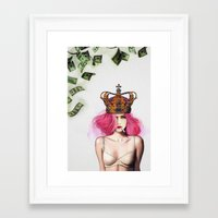 queen Framed Art Prints featuring Queen Bitch by Jenny Liz Rome