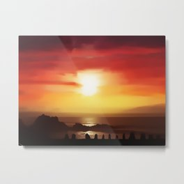 One Hot Night Metal Print