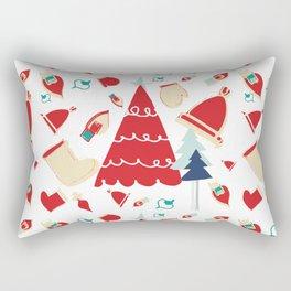 Christmas tree red Rectangular Pillow