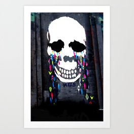 Crying Colors Art Print