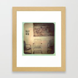 Sit Beside Me Framed Art Print