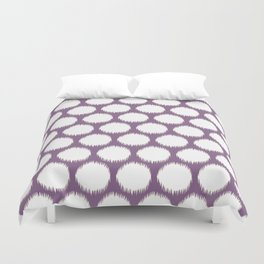 Violet Asian Moods Ikat Dots Duvet Cover