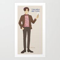 doctor who Art Prints featuring Doctor Who by Pulvis