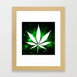 Weed : High Times Green Galaxy Framed Art Print