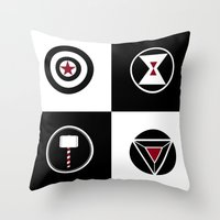 avenger Throw Pillows featuring Avenger by ArikaDoe