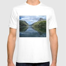 Rondane - Rondevannet  Norway White MEDIUM Mens Fitted Tee