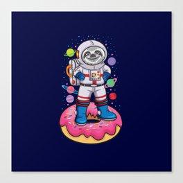 Space Sloth Canvas Print