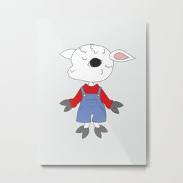 Cute animal - sheep. Metal Print