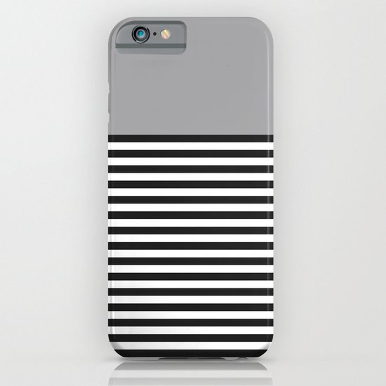 STRIPE COLORBLOCK {GRAY} iPhone & iPod Case