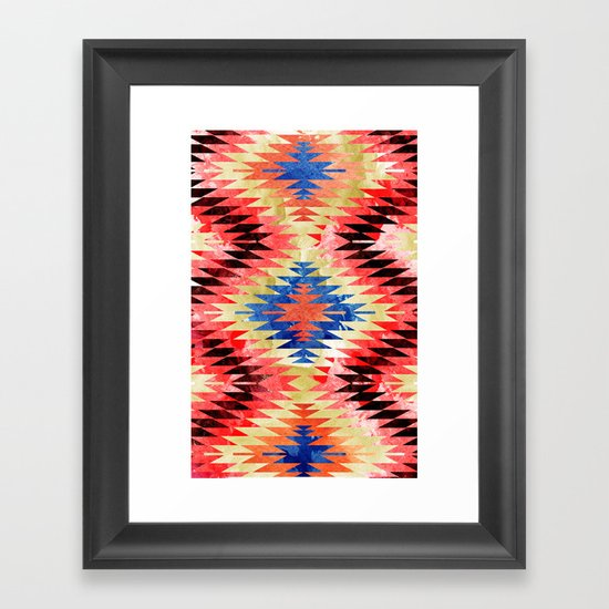 Painted Navajo Suns Framed Art Print