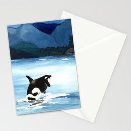Orca Breach Stationery Cards
