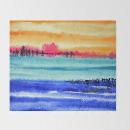 Sunset beauty Throw Blanket