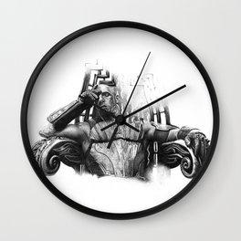 king Riddick B&W Wall Clock
