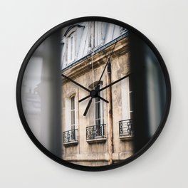 Paris Through the Window Wall Clock
