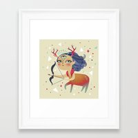sagittarius Framed Art Prints featuring Sagittarius by Ana Varela