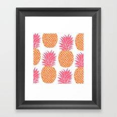 Modern Pineapples Framed Art Print