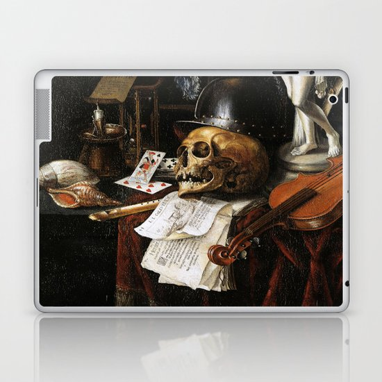 Vintage Vanitas- Still Life with Skull 3 Laptop & iPad Skin