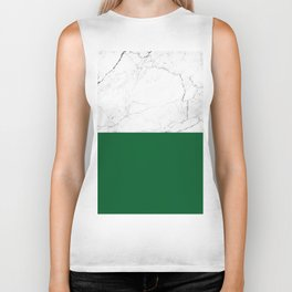 emerald green and white marble Biker Tank
