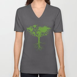 Earth Tree Unisex V-Neck