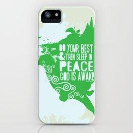 Sleep in Peace iPhone Case