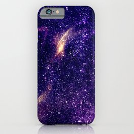 Ultra violet purple abstract galaxy iPhone Case