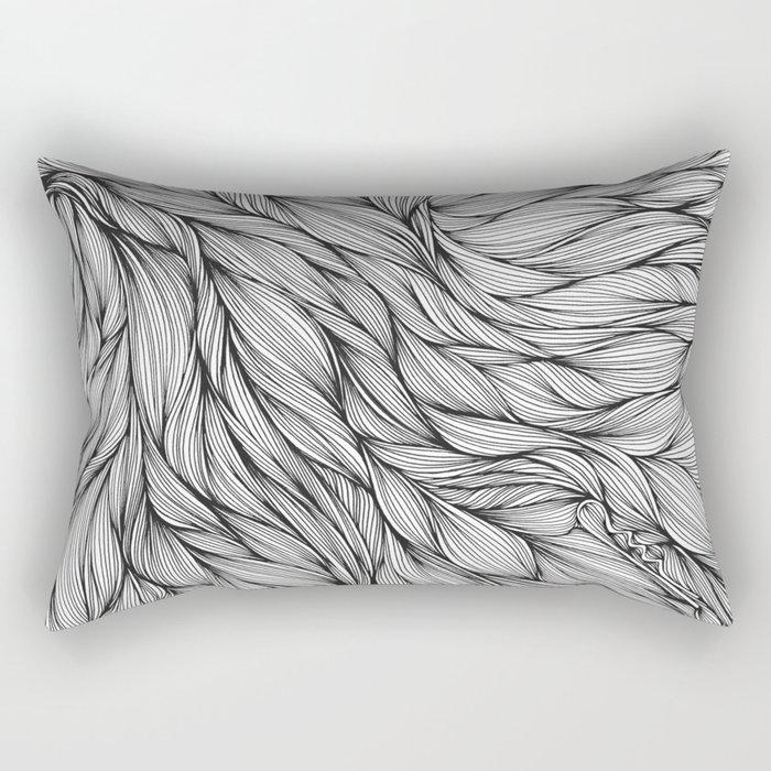 Pin in a Hairstack Rectangular Pillow