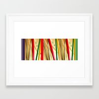 bamboo Framed Art Prints featuring bamboo by Davey Charles