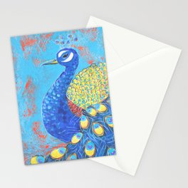 Peacock: Grace Under Fire Stationery Cards
