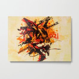 Evangelion Eva-02 Metal Print