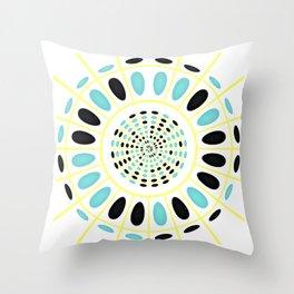 Wheel on white Throw Pillow
