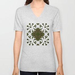 """Autumn mandala"" (Green-Grey Pattern) Unisex V-Neck"
