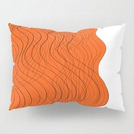 Waves Lines in Orange Pillow Sham