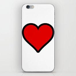 Heart Shape Digital Illustration, Modern Artwork iPhone Skin