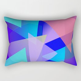 Multicolored and youthful triangles Rectangular Pillow