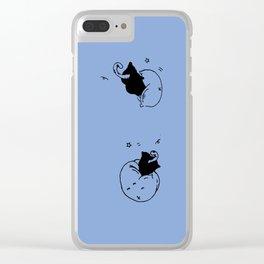 Childish - Wisteria blue Clear iPhone Case