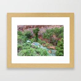 Havasu Creek 01 (Havasu Falls, Supai, AZ) Framed Art Print