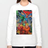 superheros Long Sleeve T-shirts featuring Heroes Unite by JayKay