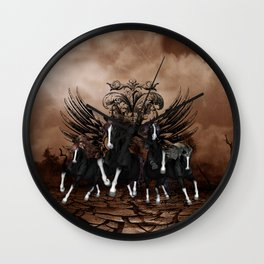Awesome wild horses Wall Clock