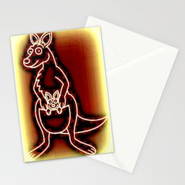 The Flying Kangaroo & It's Joey Stationery Cards