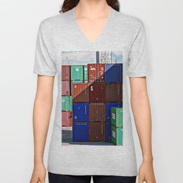 Colorful containers II Unisex V-Neck